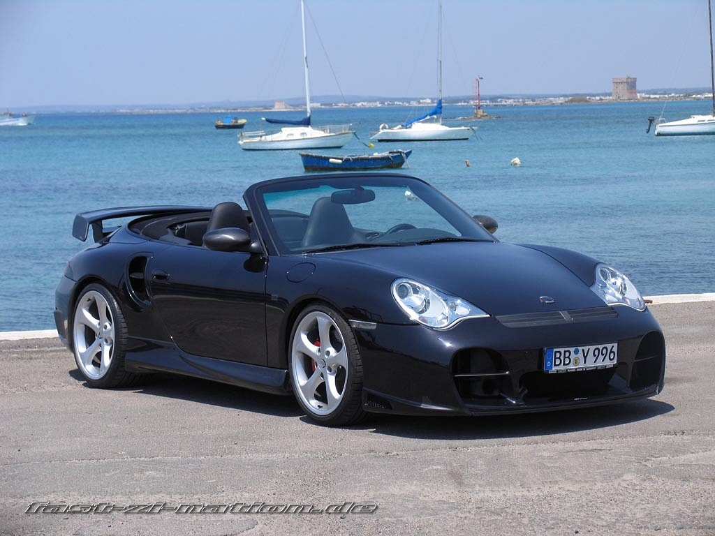 Porsche 911 (996) Cabriolet by TechArt (right-front view) - desktop wallpaper in 1024x768