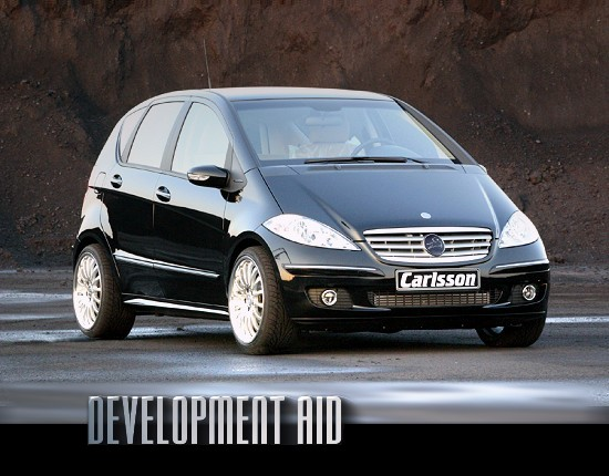 DEVELOPMENT AID: Mercedes A-class by Carlsson - front-right view