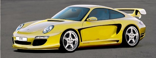 GTR 750 Avalanche - Porsche 911 (997) by Gemballa [photoshop, right-front view]