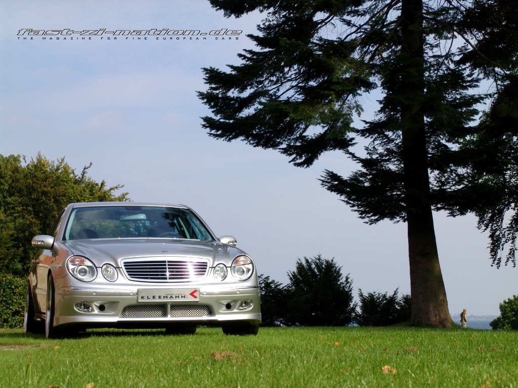 Front view of the K3 (Mercedes E55 AMG by Kleemann) in 1024x768
