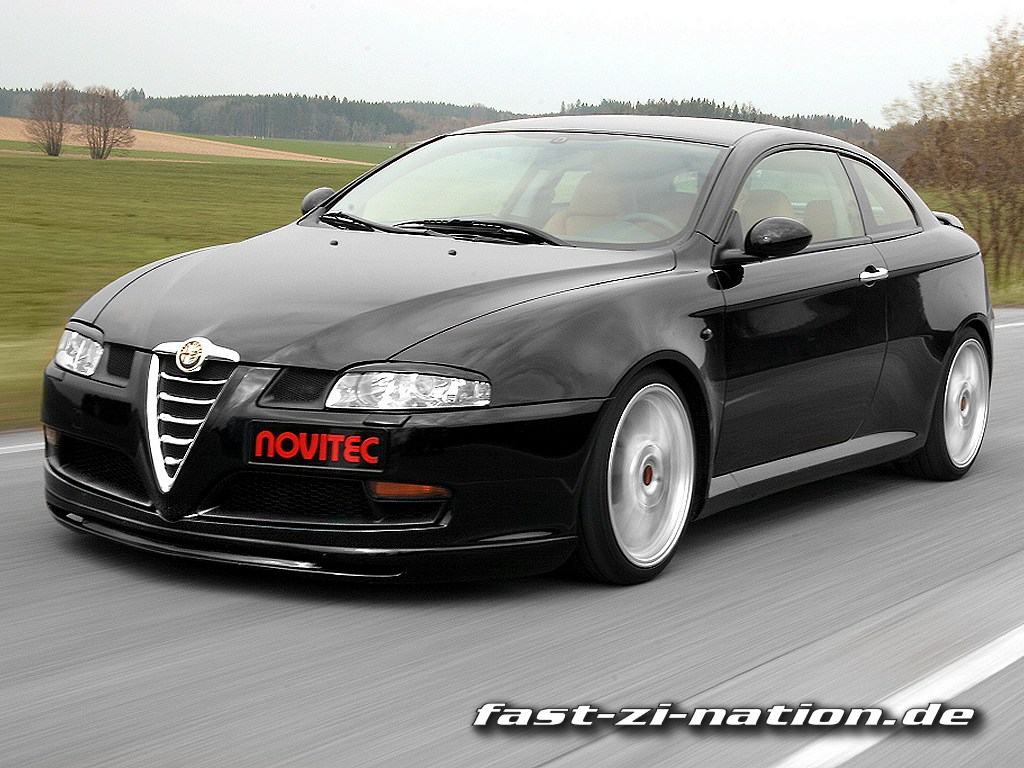 Alfa Romeo GT by Novitec [right-front view] - desktop wallpaper in 1024x768