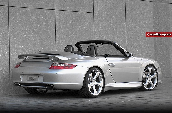 Porsche 911 (997) Cabriolet by TechArt - right-rear view [click for wallpaper]