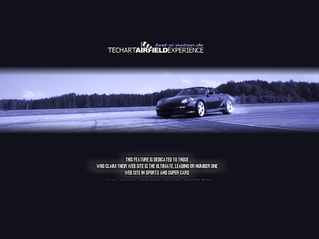 TechArt Airfield Experience: artistic wallpapers - Boxster drift in blue