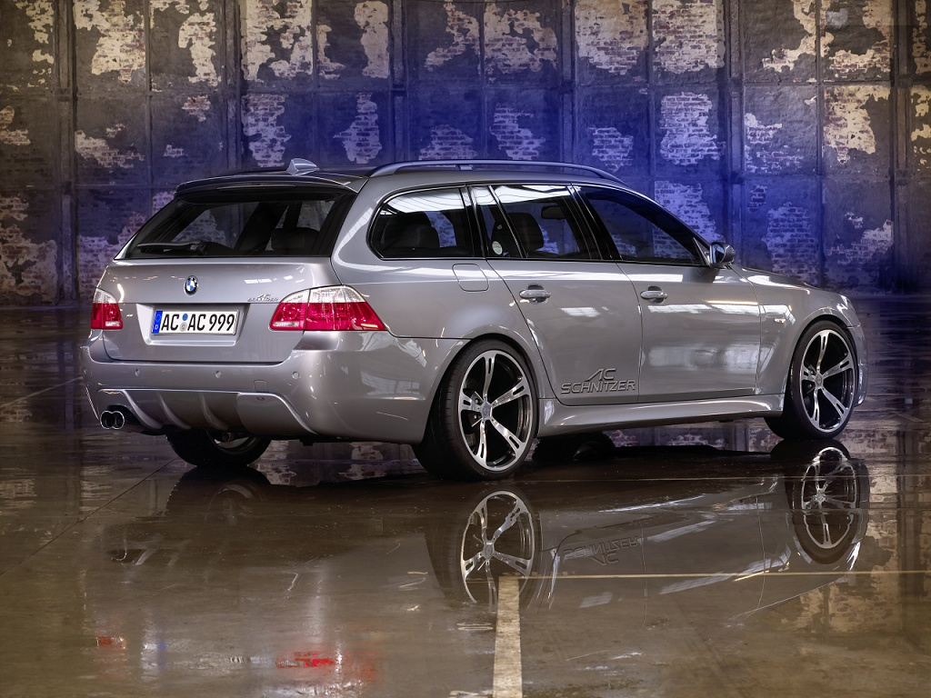 wallpaper 1024x768: BMW 5-series Touring/Sports Wagon by AC Schnitzer - right-rear view