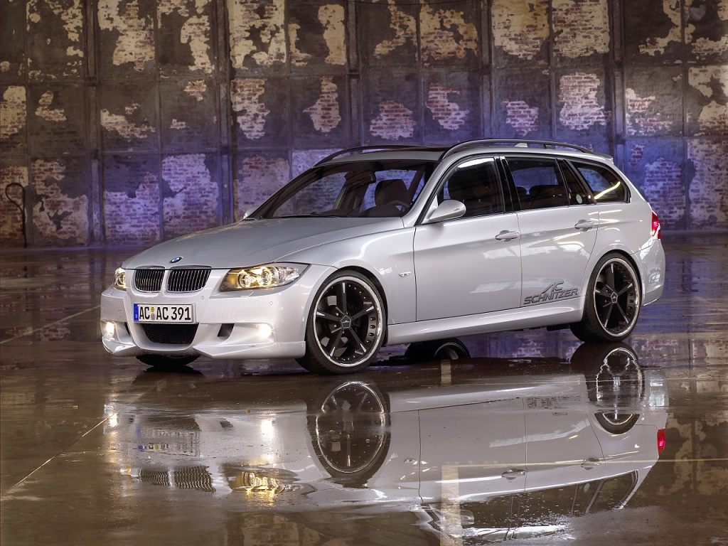 wallpaper 1024x768: BMW 3-series Touring/Sports Wagon by AC Schnitzer - left-front view