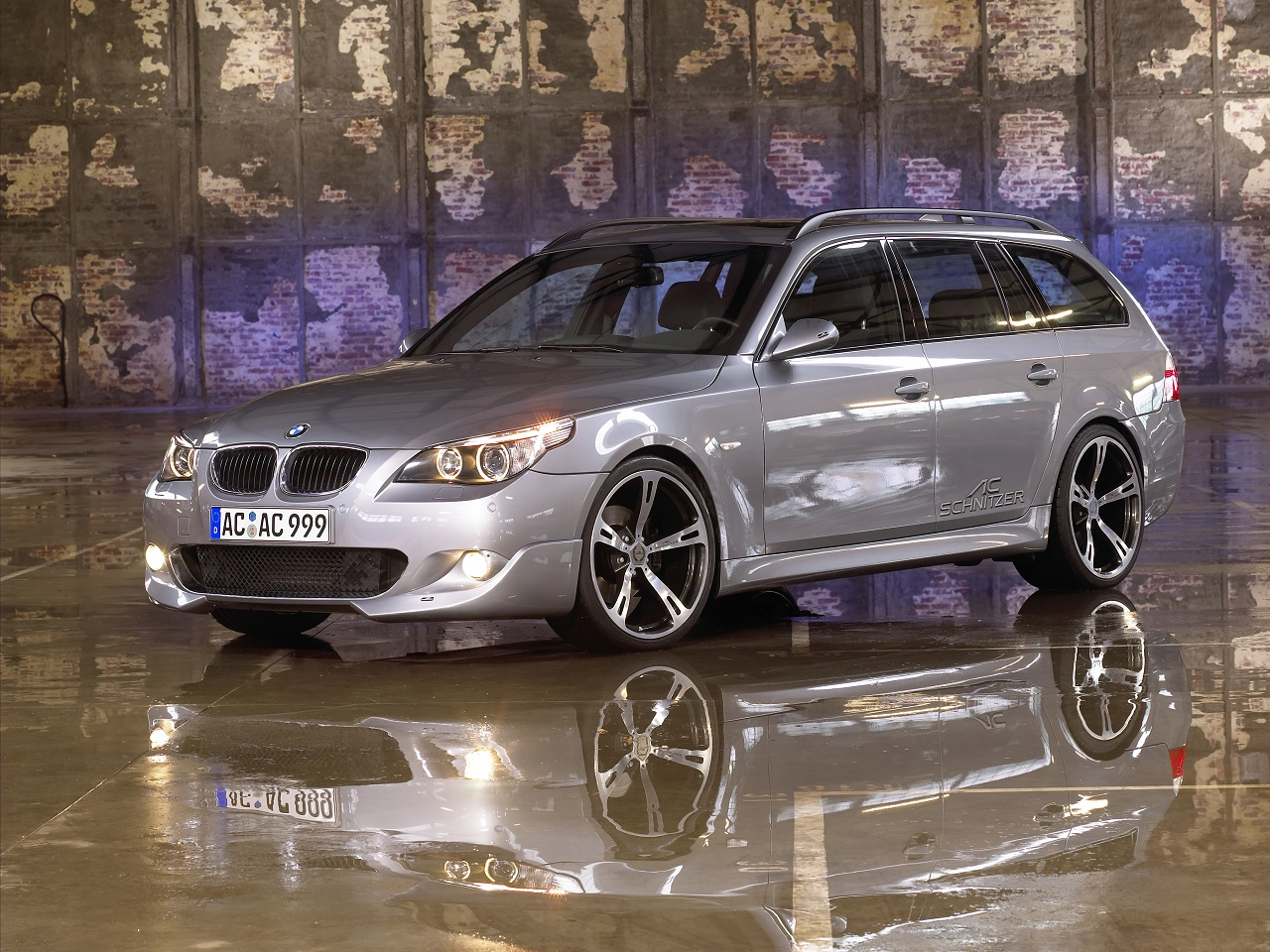 wallpaper 1280x960: BMW 5-series Touring/Sports Wagon by AC Schnitzer - left-front view