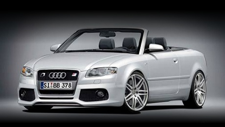 Audi A4 Convertible by B&B in white