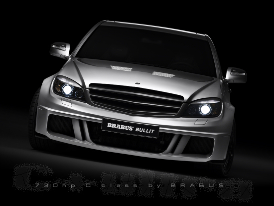 Brabus Bullit basing on the Mercedes C-class - front view