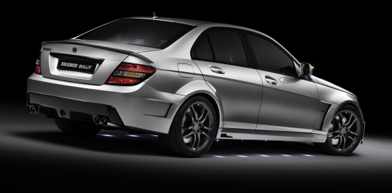 Brabus Bullit basing on the Mercedes C-class - side/rear view