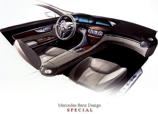 MERCEDES DESIGN SPECIAL (noble Mercedes CL-class dash board draft)