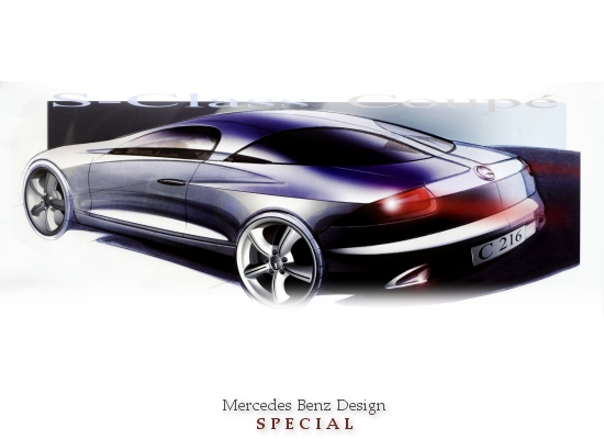 MERCEDES DESIGN SPECIAL (Mercedes CL-class exterior draft with split rear window)