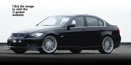 All-new 3-series with G-power Silverstone Diamond wheel (Click the image to visit the G-Power website)