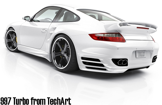 TechArt 997 Turbo; rear-left view