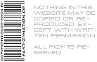 NOTHING IN THIS WEBSITE MAY BE COPIED OR REPRODUCED EXCEPT WITH WRITTEN PERMISSION; ALL RIGHTS RESERVED