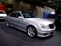 Mercedes Benz E 63 AMG - right-front view - click for wallpaper