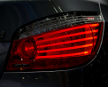 BMW 5-series - rear light detail - Click for wallpapers