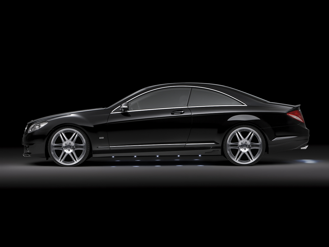 S-class with 22 inch wheels by Brabus