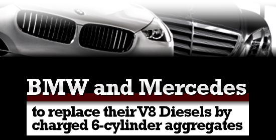Mercedes and BMW to replace their V8 diesels
