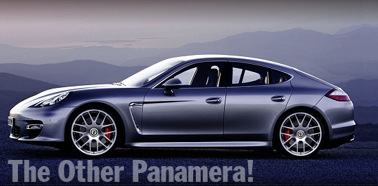Porsche Panamera - Original with central locking wheels