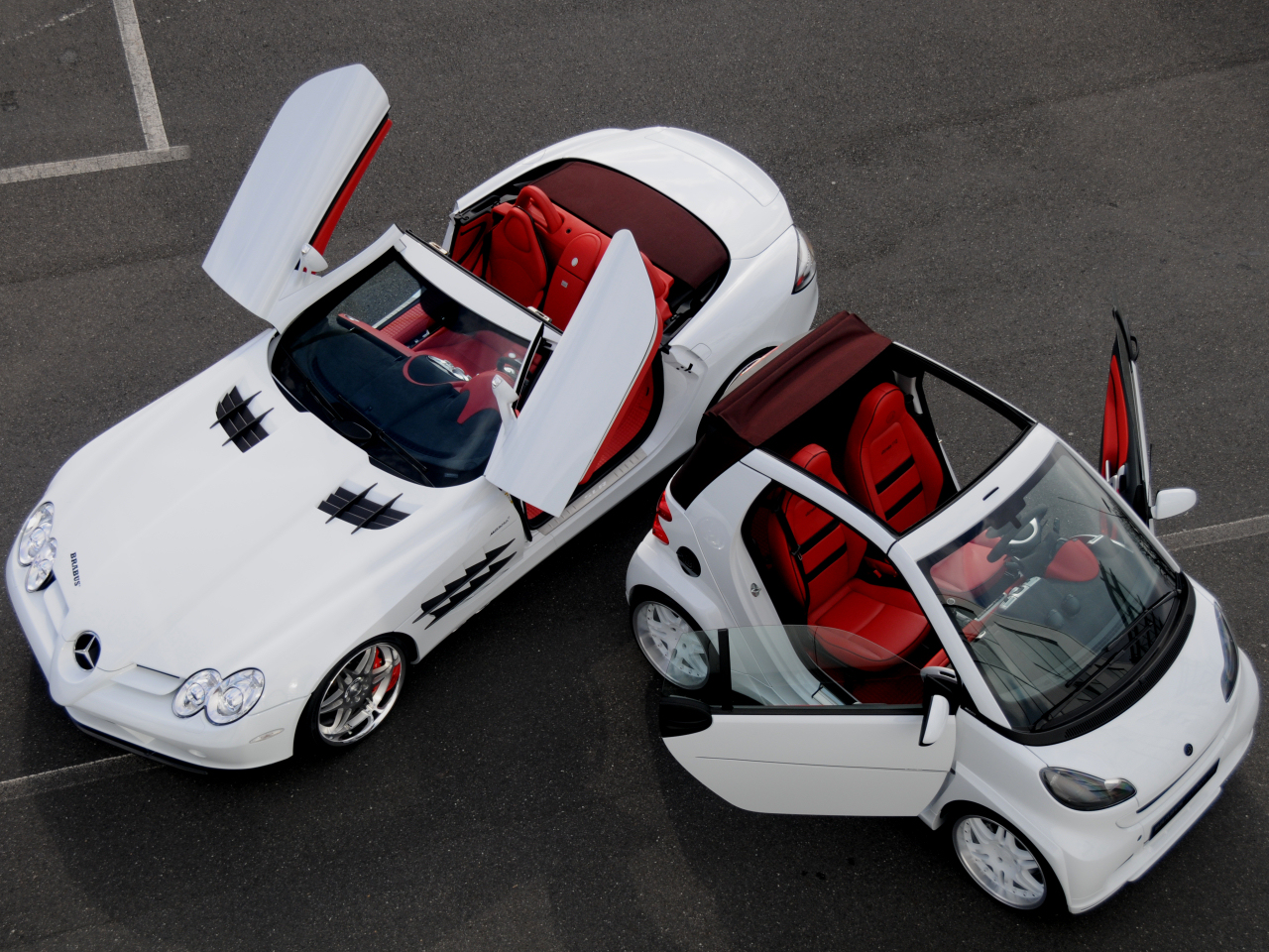 wallpaper 1024x960:Brabus SLR and smart fortwo