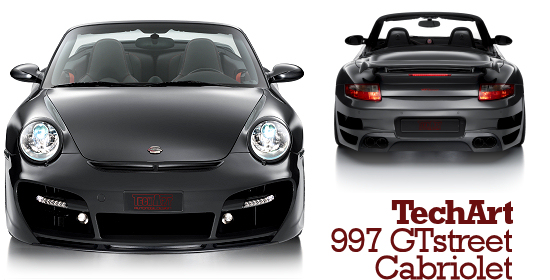 TechArt GTstreet Cabriolet basing on the Porsche 997 Turbo