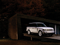 Range Rover on a ramp