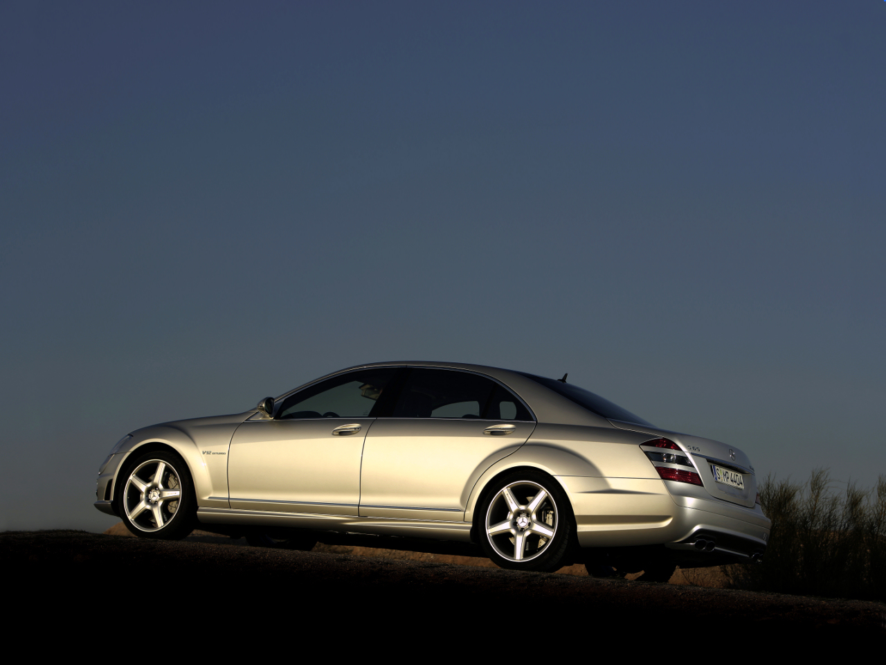 Mercedes-Benz S 65 AMG in the sunset