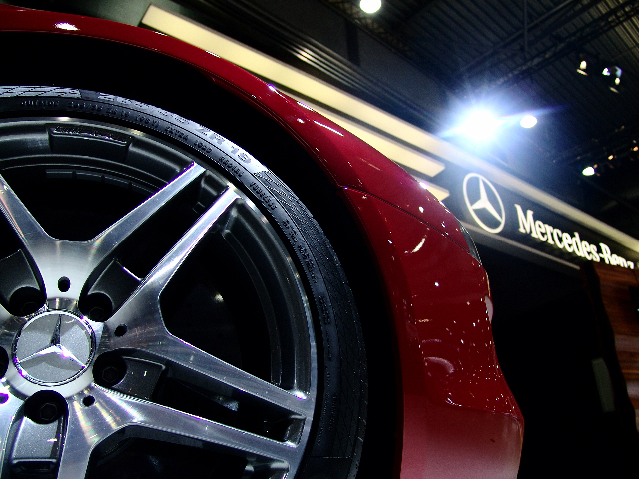 Mercedes-Benz SLS AMG on The Leipzig Motor Show 2010