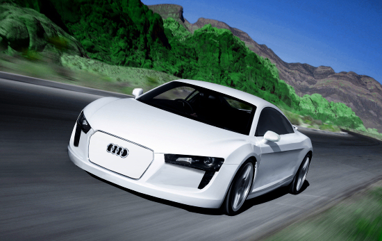 Audi R8 With Electro Drive - Artists Impression