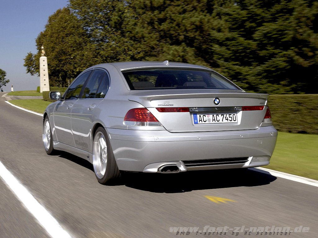 wallpaper in 1024x768 pixels: BMW 7-series by AC Schnitzer - rear-left view