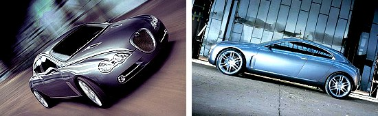 Jaguar R-D6 concept - two views
